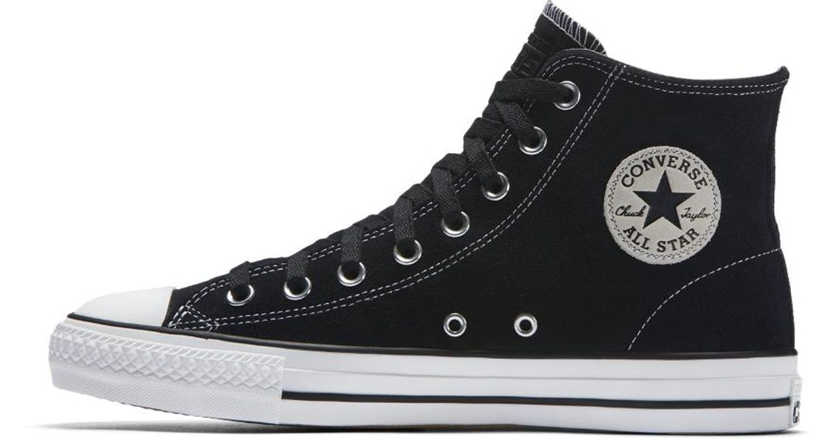 c7d58d5392b898 Lyst - Converse Chuck Taylor All Star Pro Core Suede High Top Men s Shoe in  Black for Men