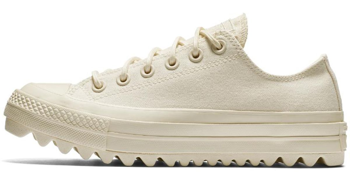 Lyst - Converse Chuck Taylor All Star Lift Ripple Canvas Low Top Women s  Shoe in Natural d93b8e102