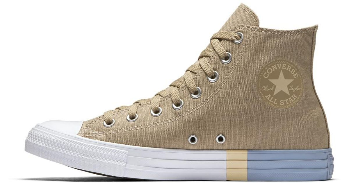 e3b8db9d64c801 Lyst - Converse Chuck Taylor All Star Tri-blocked Midsole High Top Men s Shoe  in Brown for Men
