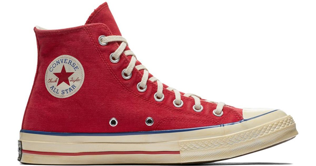 9cd7069ceff ... high tops converse 10f17 90127  new zealand converse chuck taylor all  star 70 vintage 36 canvas in red for men lyst