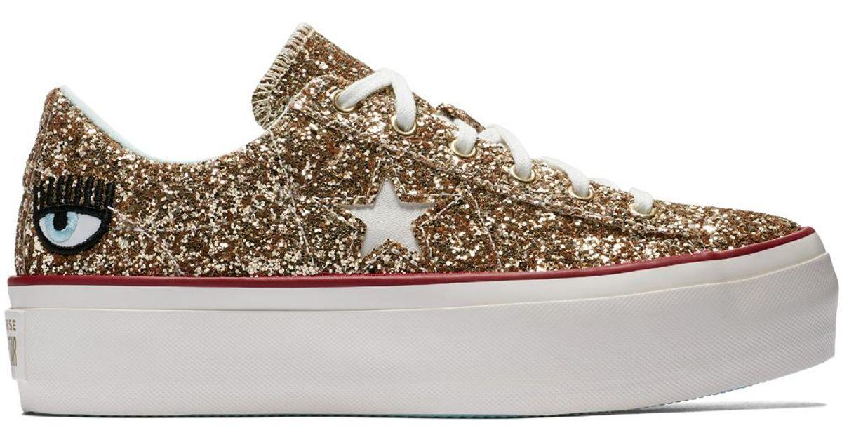 1d274babd13b Converse X Chiara Ferragni One Star Platform Glitter - Lyst