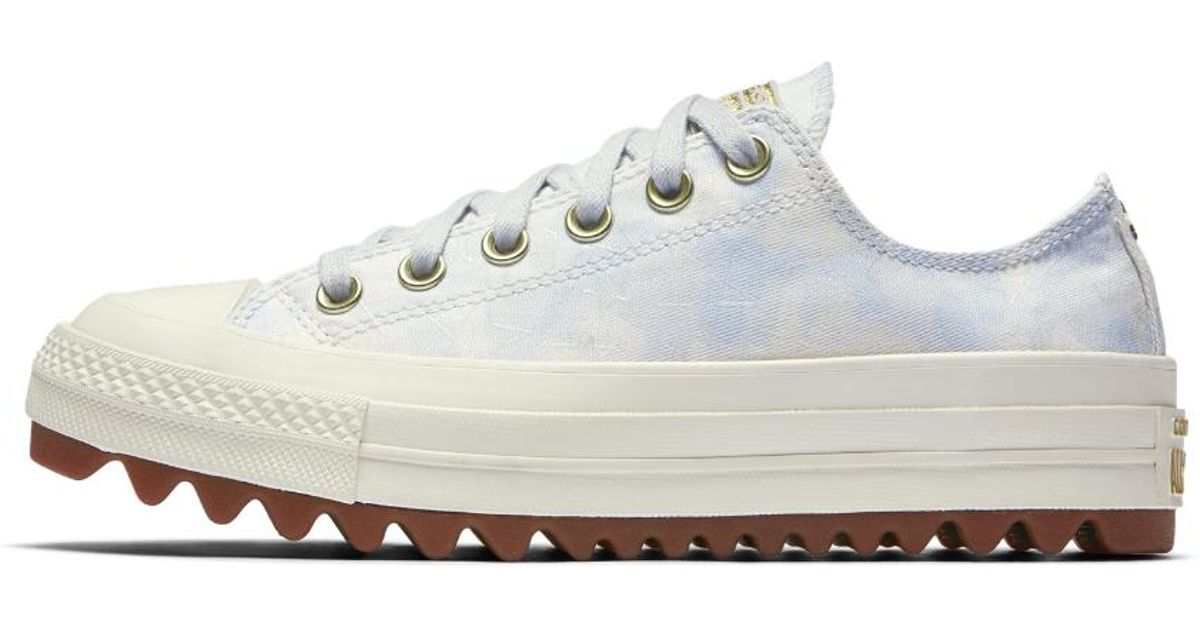 c89d7304ab24cb Lyst - Converse Chuck Taylor All Star Lift Ripple Camo Low Top Women s Shoe  in Gray
