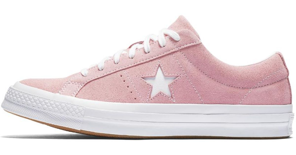 fa17a1a829c870 Lyst - Converse One Star Classic Suede Low Top Shoe in Pink