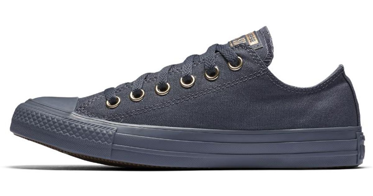 c5a87308f228 Lyst - Converse Chuck Taylor All Star Mono Glam Low Top Women s Shoe in  Purple