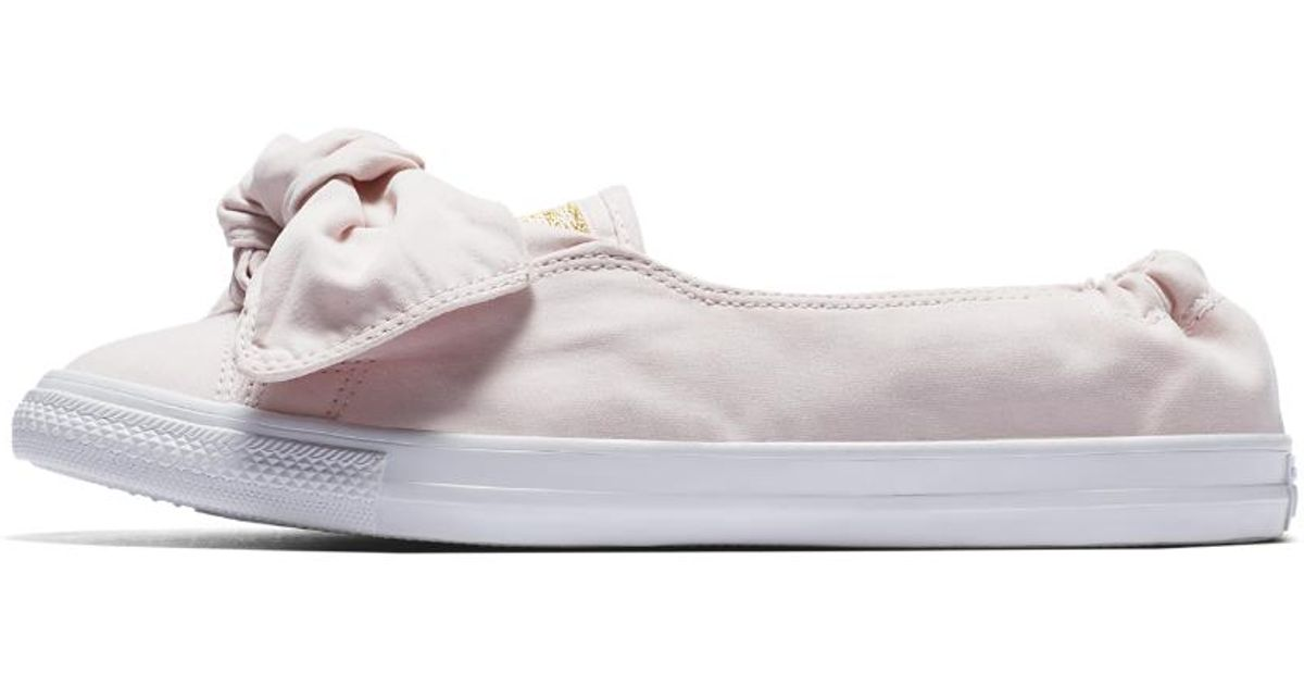 af54ffa143a0 Lyst - Converse Chuck Taylor All Star Knot Brushed Twill Low Top Women s  Slip