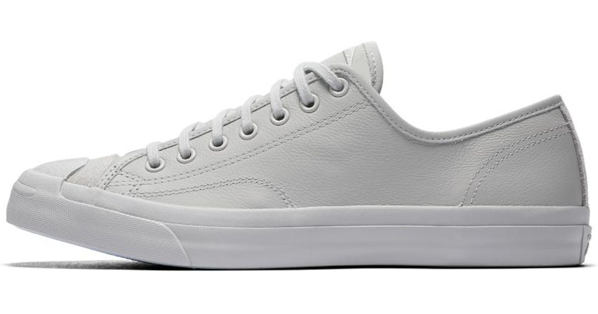 f0d57d303db ... discount lyst converse jack purcell leather mono low top shoe in gray  for men 563c4 cb26e