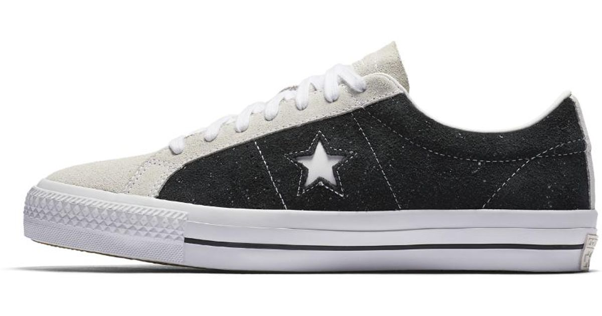 9ee04b066fab Lyst - Converse Cons One Star Pro Speckled Suede Low Top Skateboarding Shoe  in Black