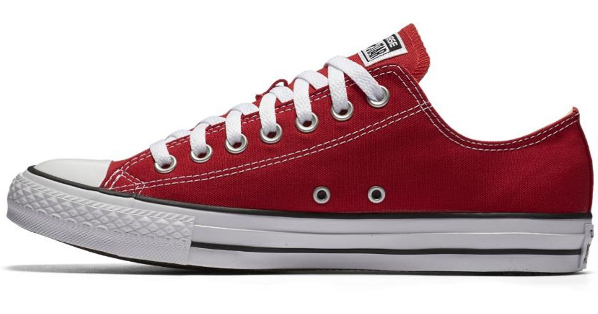 eab4455ffd77 ... switzerland lyst converse chuck taylor all star low top shoe in red for  men 1639f a7a62