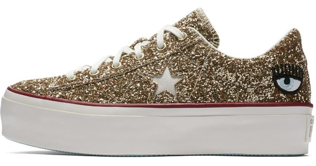 14bb24009a58 Lyst - Converse X Chiara Ferragni One Star Platform Low Top Women s Shoe in  White