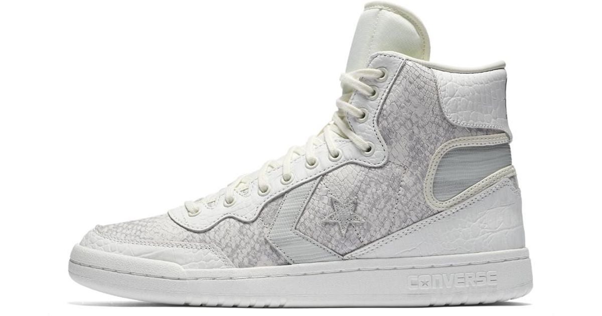 5e39732fa5b Converse - White Fastbreak Snake Leather High Top Shoe for Men - Lyst