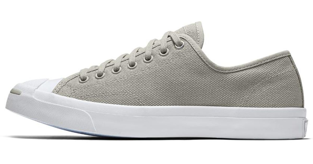 e6ec3f6ff746 Lyst - Converse Jack Purcell Jack Heavy Canvas Low Top Men s Shoe in Gray  for Men