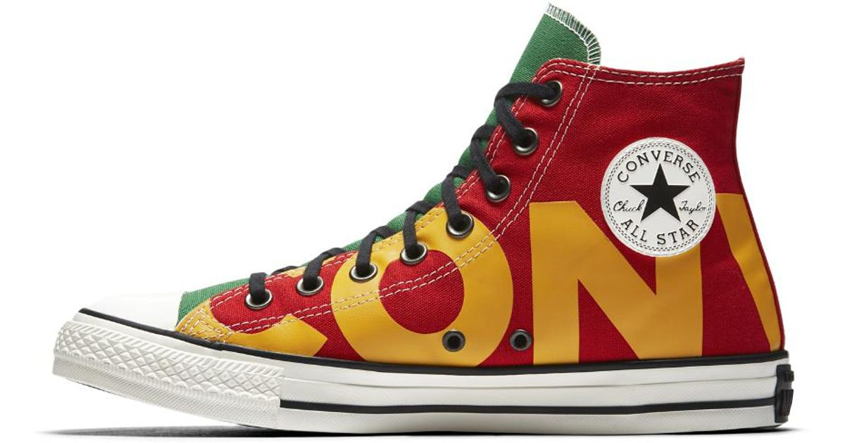 55d06fa64cfd ... france lyst converse chuck taylor all star wordmark high top mens shoe  in red for men