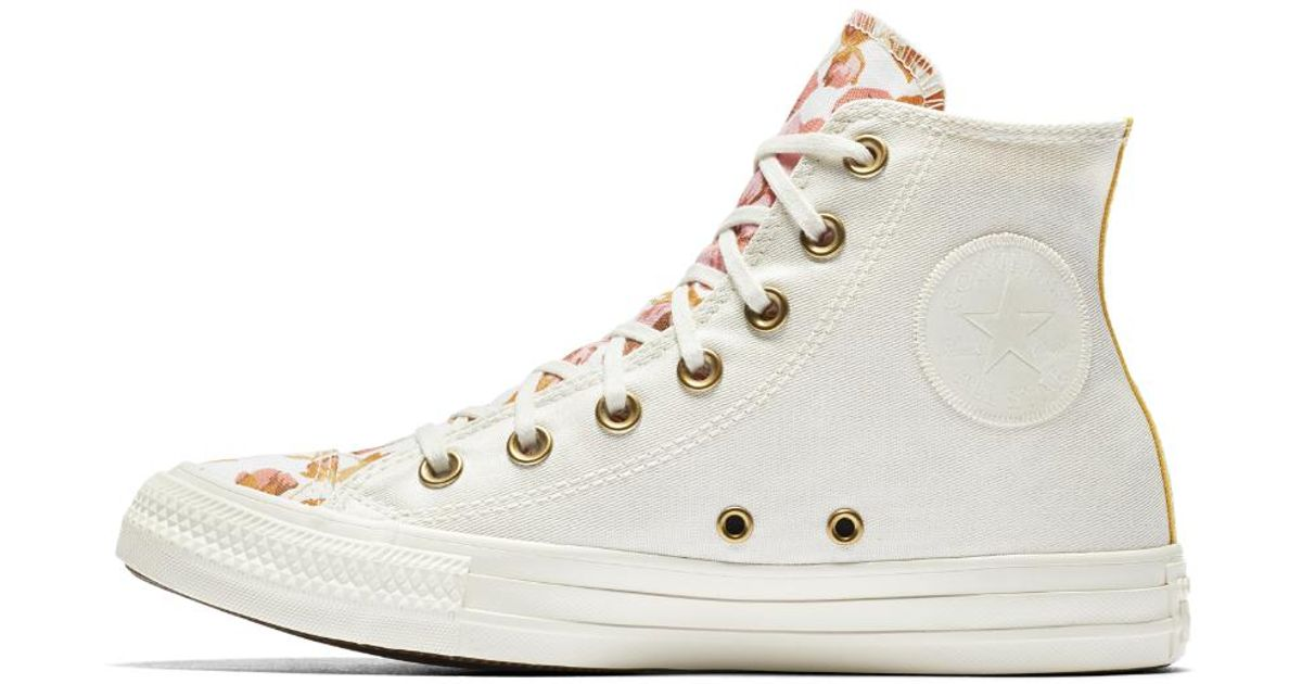 4020fc45e620 Lyst - Converse Chuck Taylor All Star Parkway Floral High Top Women s Shoe  in Natural
