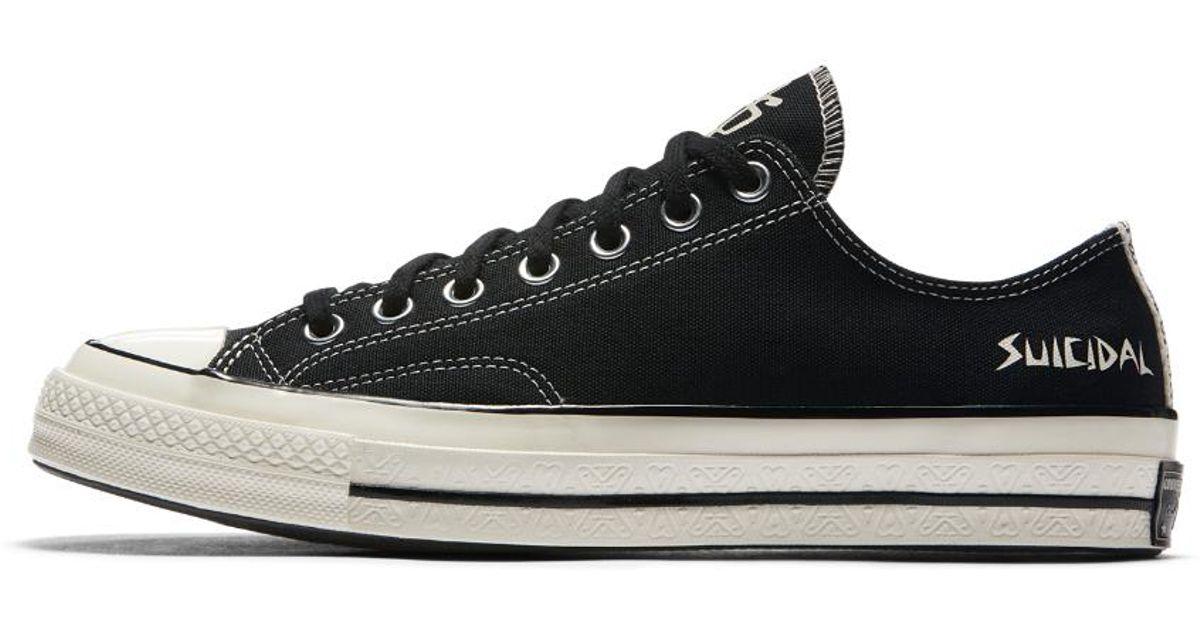a151d264ecf956 Lyst - Converse X Suicidal Tendencies Chuck 70 Low Top in Black for Men