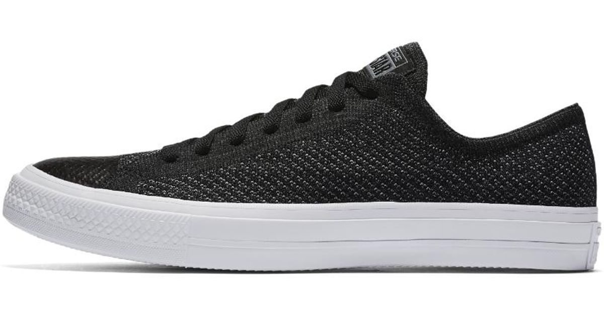 Lyst - Converse Chuck Taylor All Star X Nike Flyknit Low Top Men s Shoe in  Black for Men 465f5e648