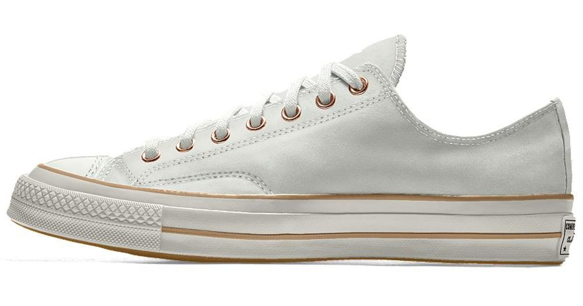 Lyst - Converse Custom Chuck 70 Leather Low Top Shoe in White for Men ccde883ab