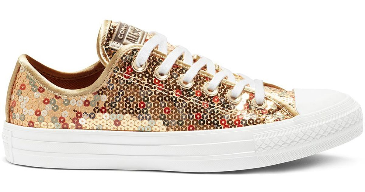 dc5ab68a1889 Converse Chuck Taylor All Star Sequined - Ox in Metallic - Save 29% - Lyst
