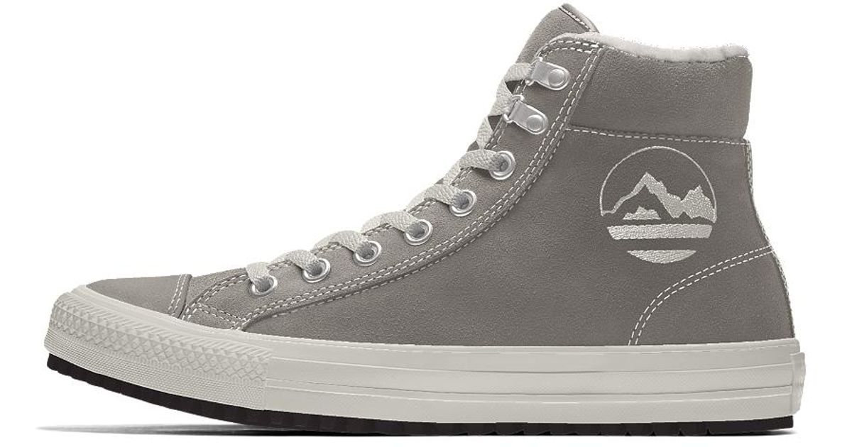 920a9a08510d Lyst - Converse Custom Chuck Taylor Winter Boot in Gray for Men