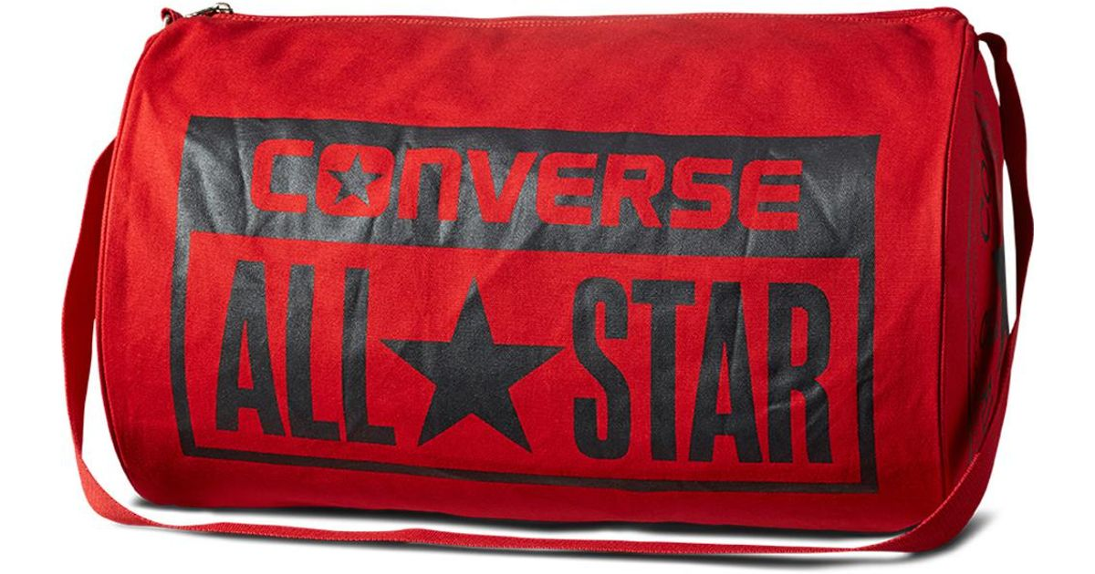 Converse - Red Chuck Taylor All Star Legacy Duffel Bag for Men - Lyst 325dca96f8380