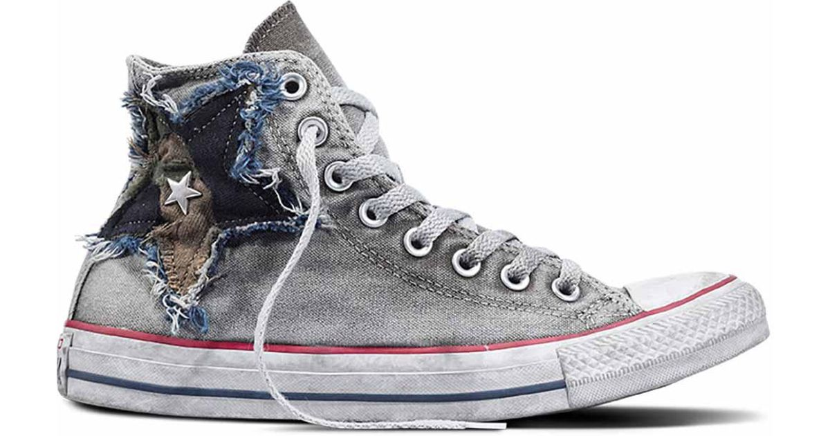 5a49cf15ab6ab Converse Chuck Taylor All Star Vintage Camo Star High Top in Gray for Men -  Lyst