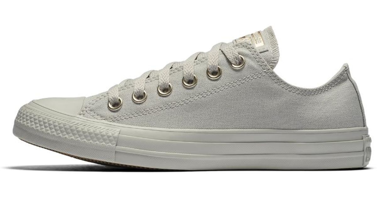 42cee6d01bd1 Lyst - Converse Chuck Taylor All Star Mono Glam Low Top Women s Shoe in Gray