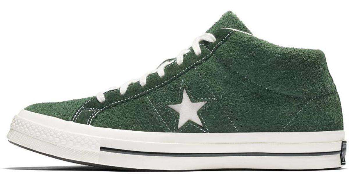 da1fdea6bd44 ... get lyst converse one star 74 mid vintage suede shoe in green for men  4395b 6caa7