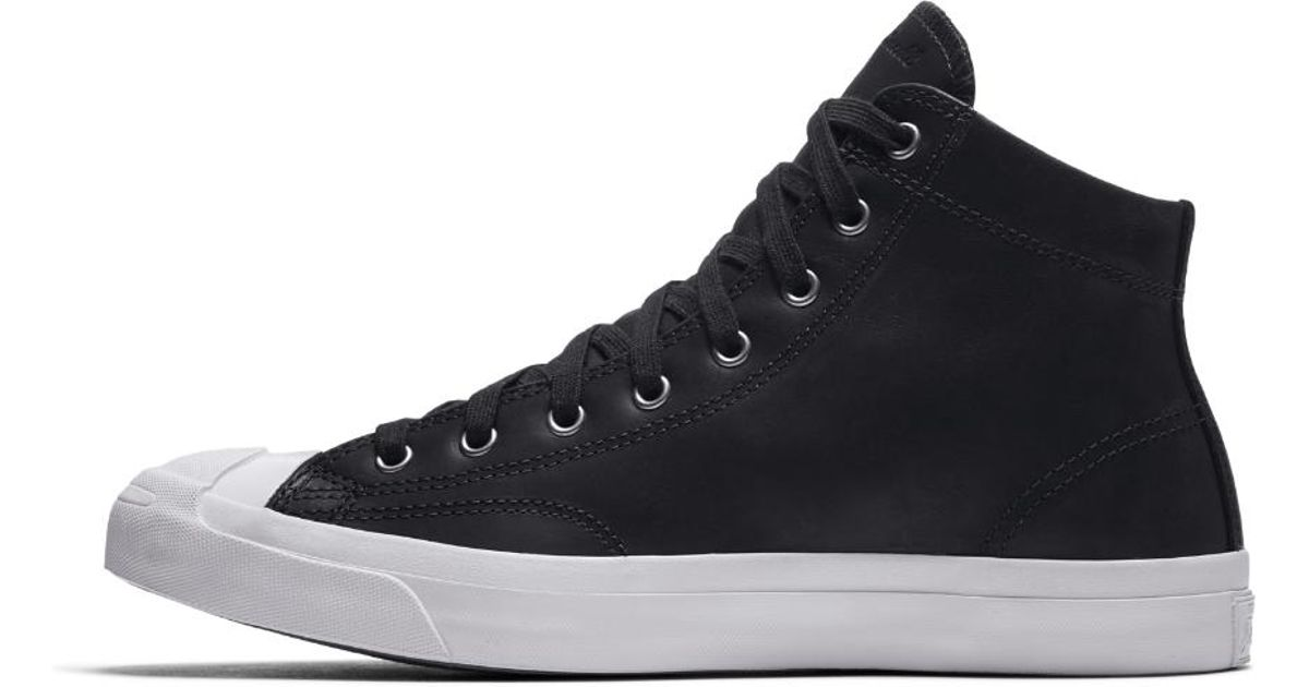d5178536abe9 Lyst - Converse Jack Purcell Mid Boot Leather High Top Men s Shoe in Black  for Men