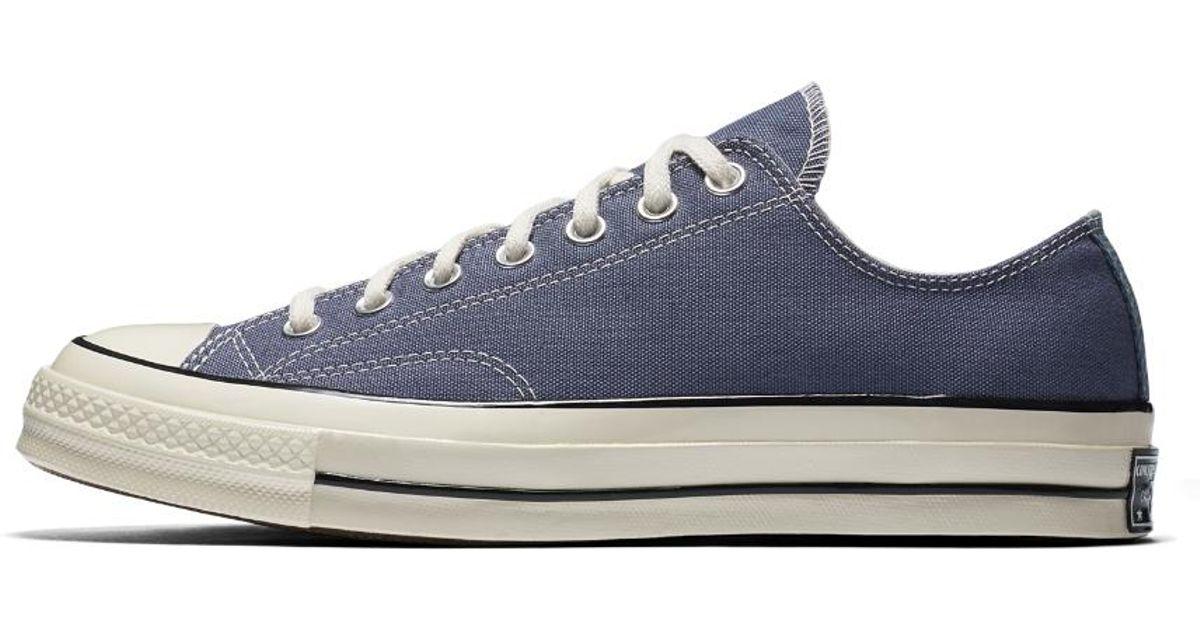 f556628b344d Lyst - Converse Chuck 70 Vintage Canvas Low Top Men s Shoe in Purple for Men