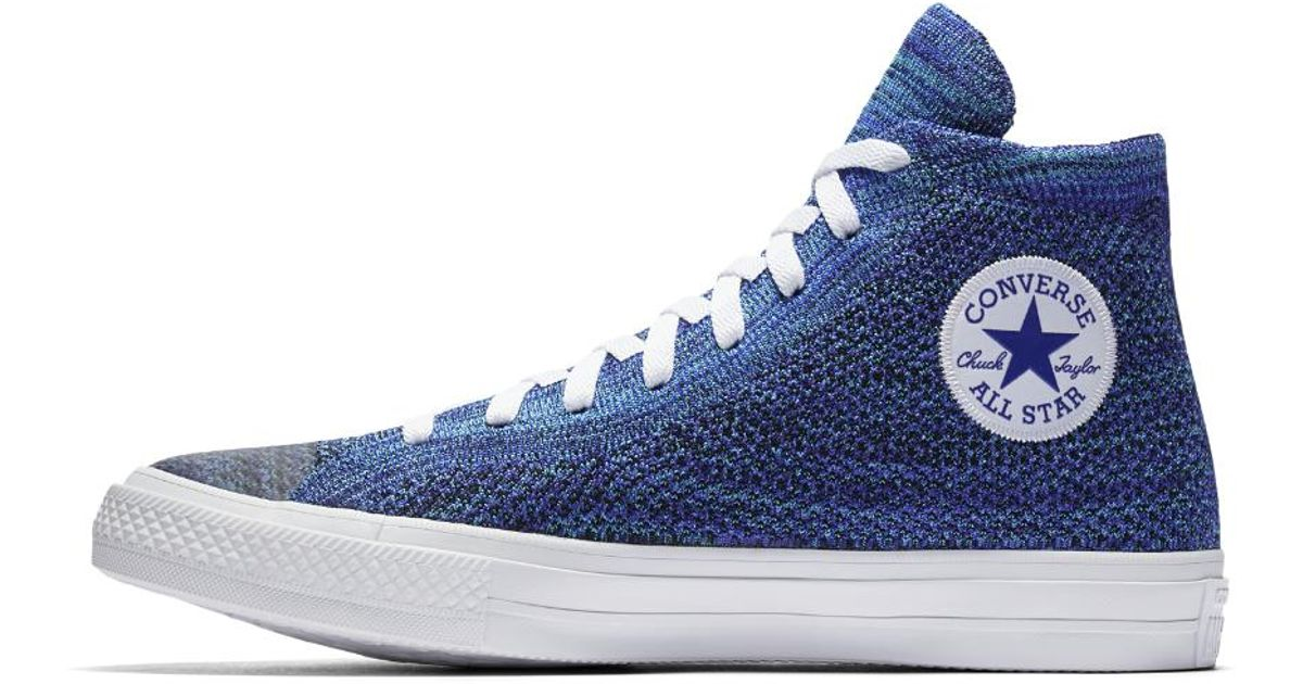 17ff7e0ab6409a Lyst - Converse Chuck Taylor All Star X Nike Flyknit High Top Shoe in Blue  for Men