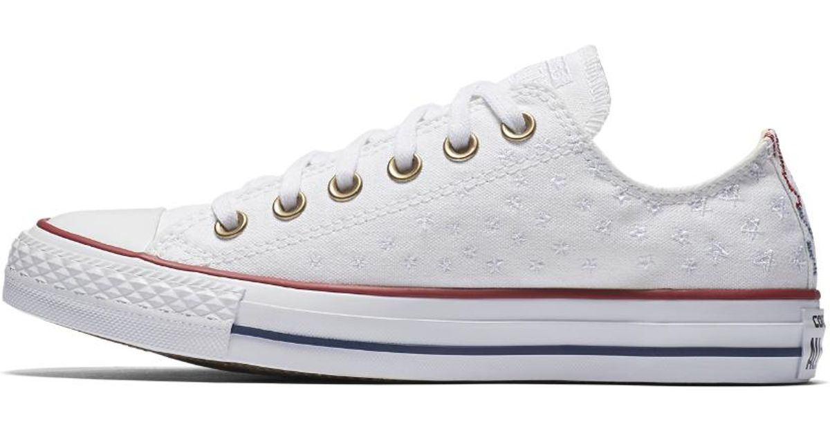 Lyst - Converse Chuck Taylor All Star Americana Embroidery Low Top Women s  Shoe in White for Men 222fe38d6