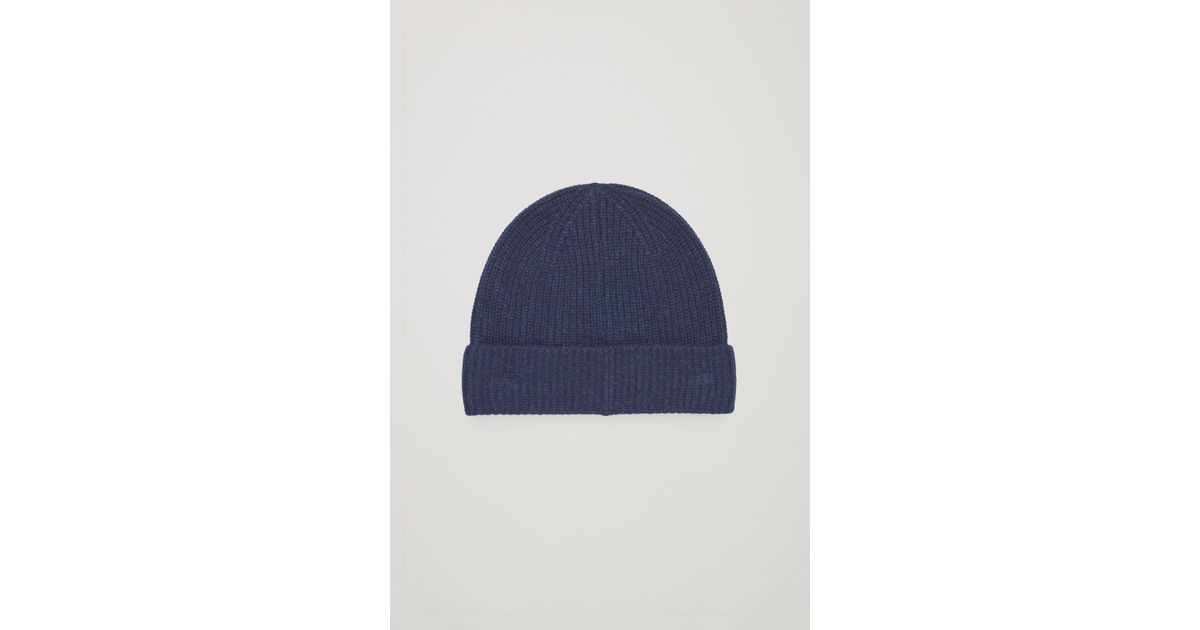 Lyst - COS Knitted Cashmere Hat in Blue for Men a82bcca5893