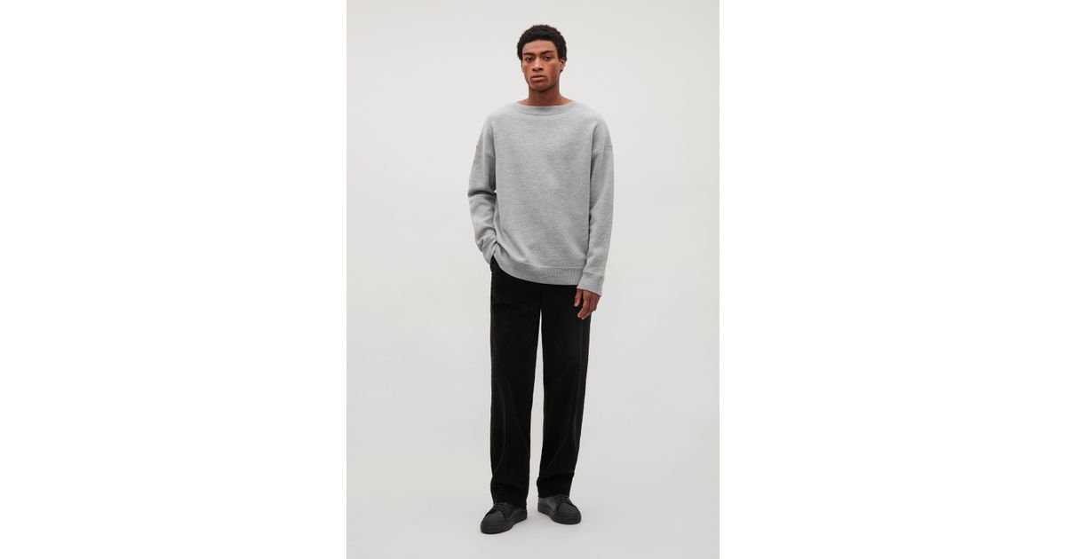 23f4a267129c COS Boiled Wool Oversized Jumper in Gray for Men - Lyst
