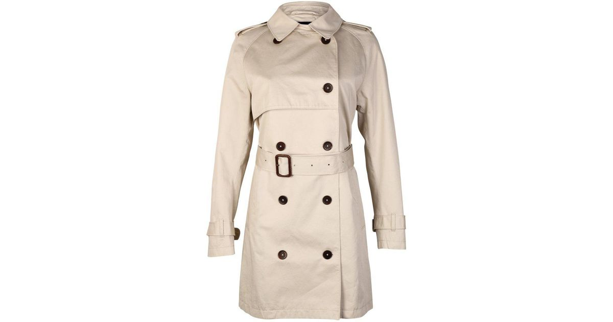 Ladies Coat Trench The Lyst In Gant La Prep Perfect Natural wYIIpq
