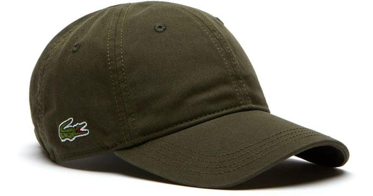 7858bbf52bfc5 Lacoste Gabardine Mens Cap (rk9811) in Green for Men - Lyst