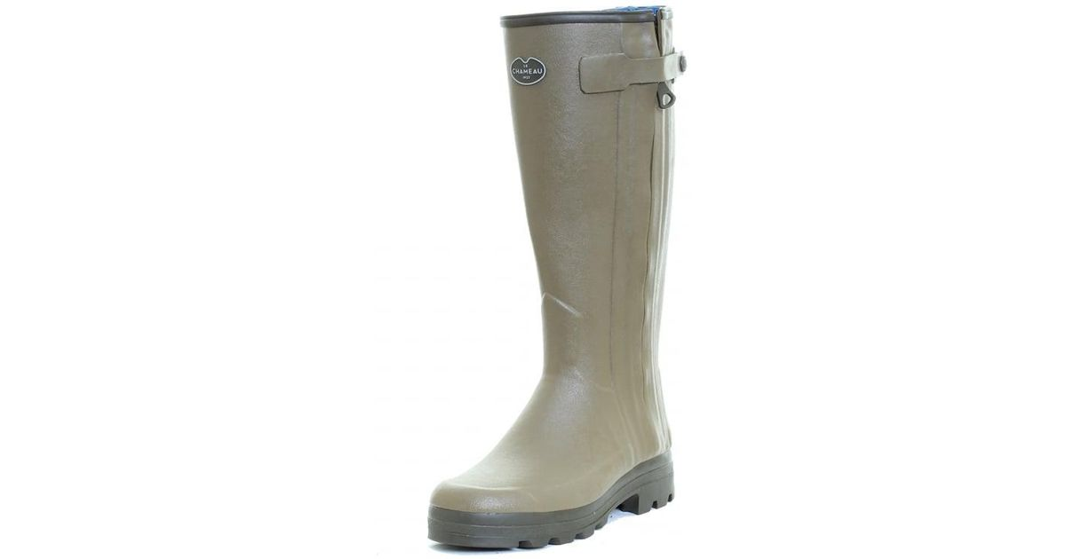 5ef8b7f33dd Le Chameau - Green Chasseur Neo Mens Wellington Boot for Men - Lyst