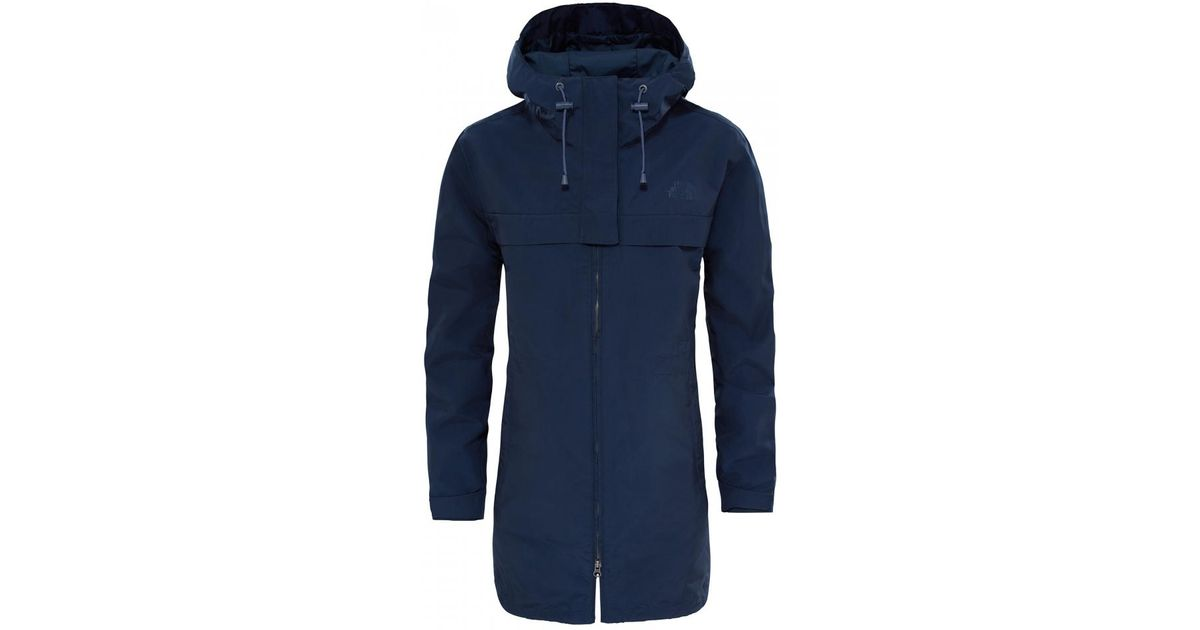 35f89571e The North Face - Blue Cagoule Womens Trench - Lyst