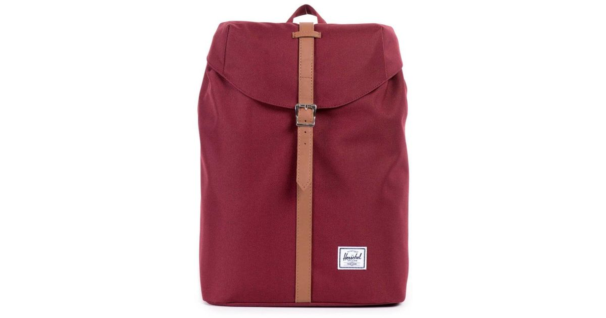 1b589582554 Lyst - Herschel Supply Co. Post Mid-volume Backpack in Red