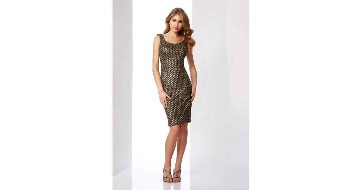 4a76d9803f2 Lyst - Mon Cheri Social Occasions By - 217845 Sequin Encrusted Cocktail  Dress