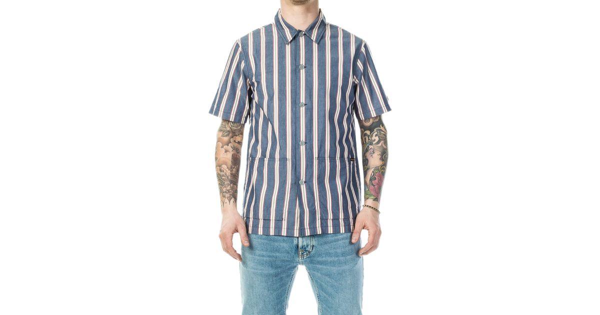 61456cb914 Lyst - Nudie Jeans Svante Cuban Stripe Multi in Blue for Men - Save  17.037037037037038%