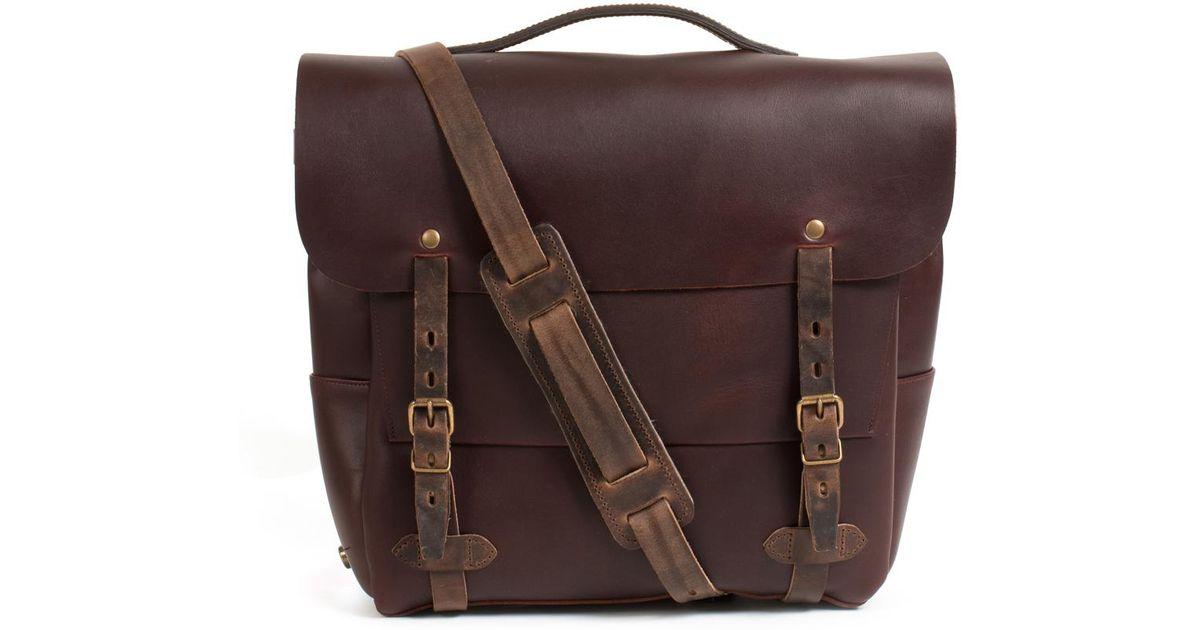 Bleu De Chauffe Postman Bag Large Eclair Tourbe in Brown for Men - Lyst df9aa8a596d5a
