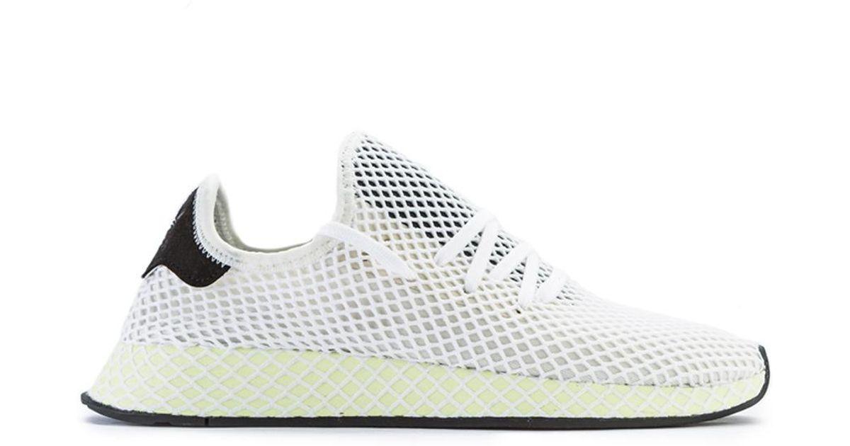 sports shoes 0d8c7 2feea Lyst - adidas Originals Deerupt Runner Chalk White in White
