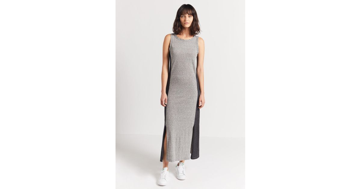 200a69701d56a Current/Elliott The Perfect Muscle Tee Dress in Gray - Lyst