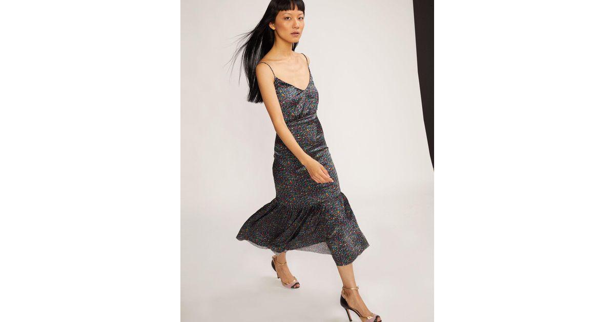 3cafdf4fca Lyst - Cynthia Rowley Rosie Stretch Silk Dress