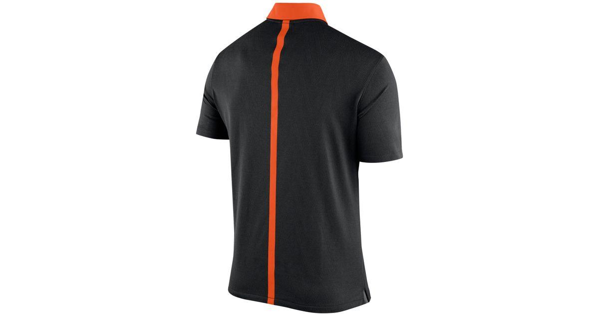 393cbcdd Nike Men's Oklahoma State Cowboys Elite Coaches Polo in Black for Men - Lyst