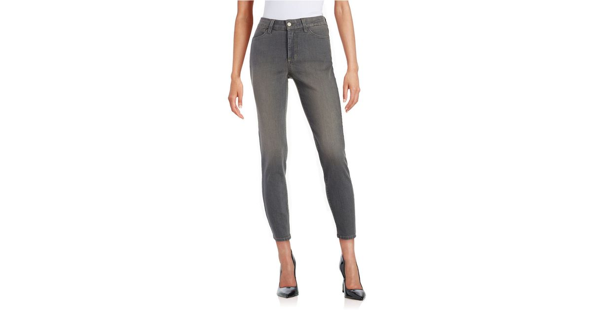 Nydj Straight-leg Ankle Jeans- Fall Rock in Gray