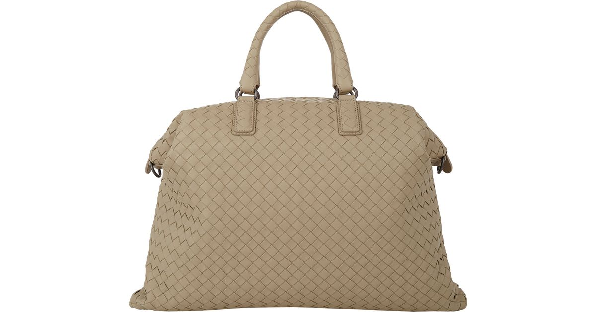 84027cb75b Lyst - Bottega Veneta Intrecciato Medium Convertible Tote in Natural