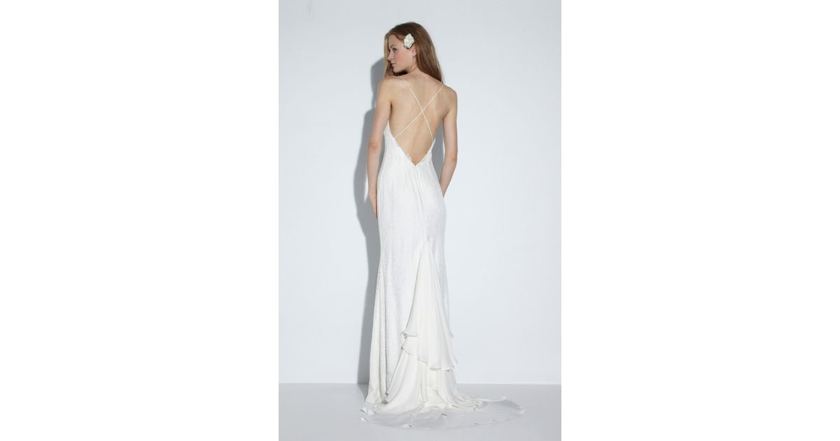 Nicole Miller Jamie Bridal Gown In White (IVORY)