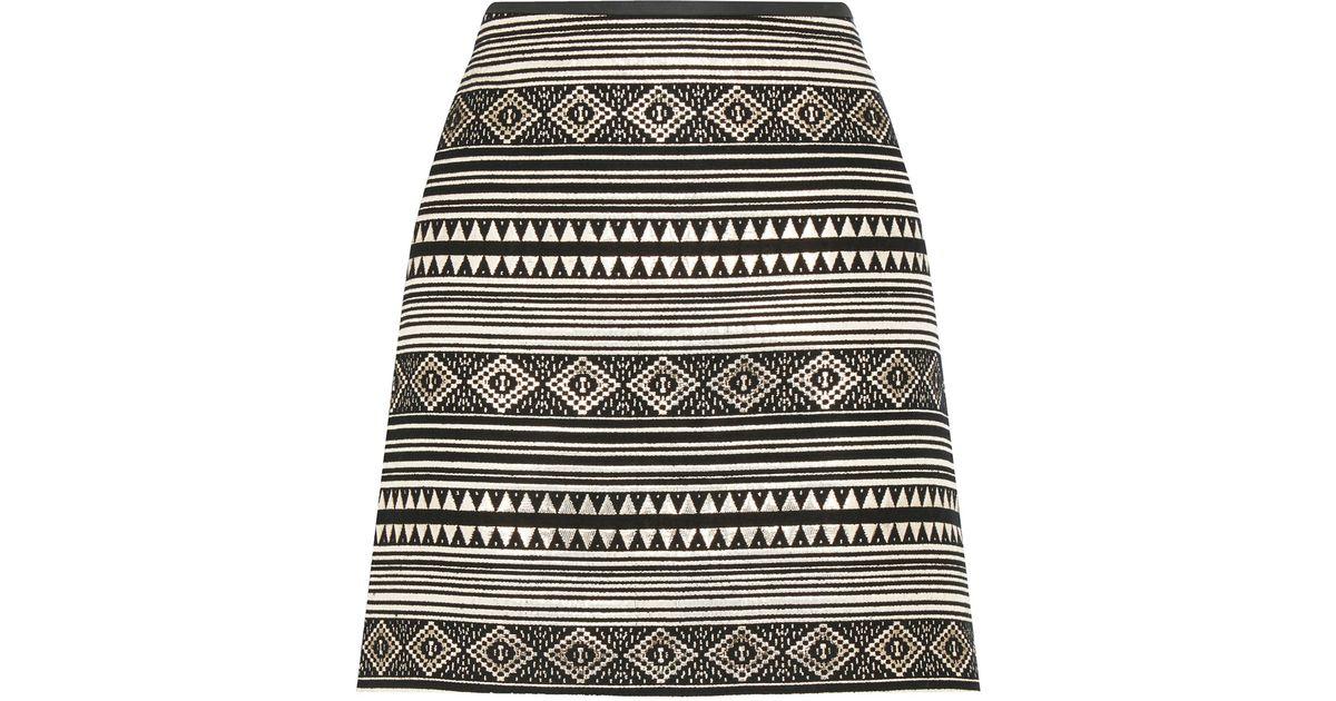 e87001ff5f83 Oasis Jacquard Marley Mini Skirt in Black - Lyst