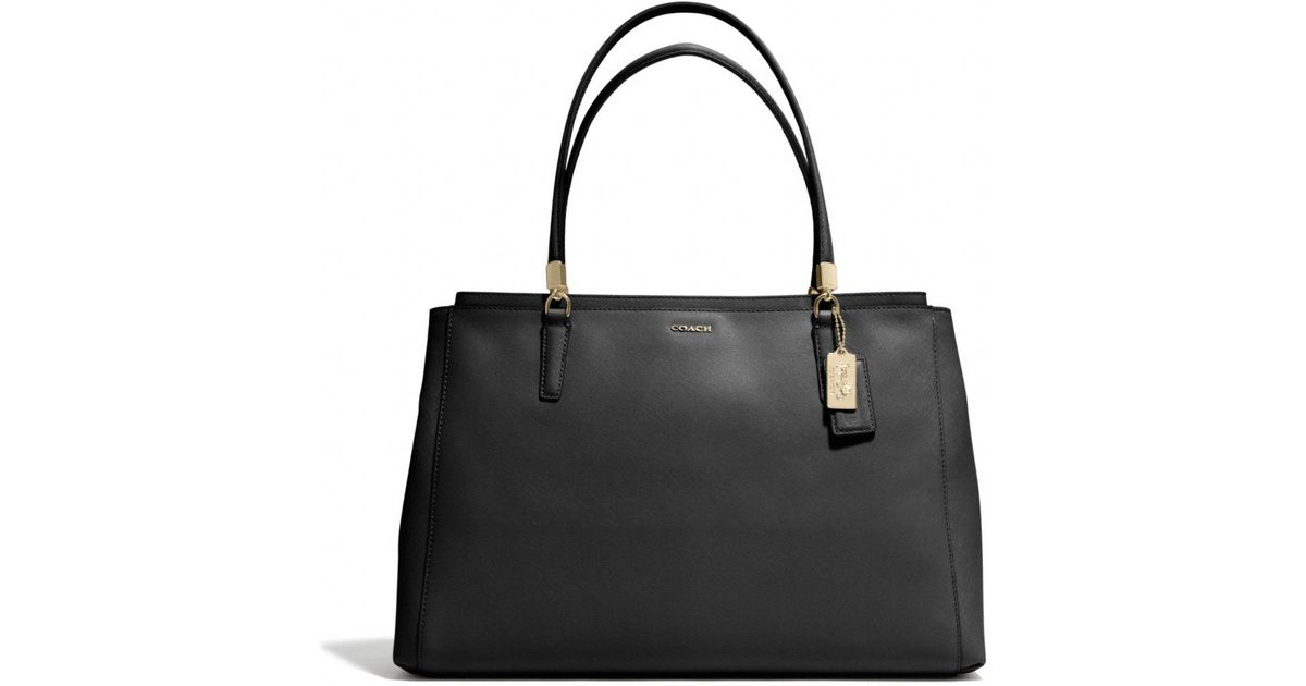 889ceab04ac3 Coach black madison large christie carryall in saffiano leather product  normal jpg 1200x630 Coach black madison