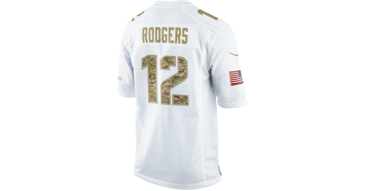 online store 73d33 7d6b0 Nike - White Aaron Rodgers Green Bay Packers Jersey for Men - Lyst